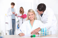 Student in class Stock Photography