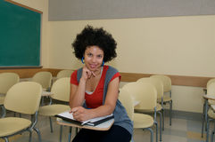 Student in the classroom Royalty Free Stock Image