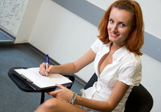Student in classroom Royalty Free Stock Image