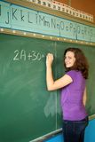 Student in a classroom Stock Images