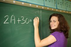 Student in a classroom Stock Photo