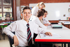 Student in classroom Stock Photos