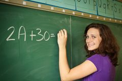 Student in a classroom Stock Image
