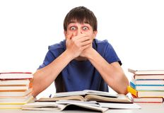Student close his Mouth Royalty Free Stock Photo
