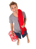 Student: College Student Heading to Shower Stock Photos