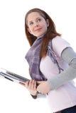 Student collegu idzie target884_0_ target885_0_ Zdjęcia Stock