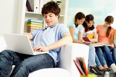 Student with computer Royalty Free Stock Photo