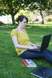 Student on Computer Royalty Free Stock Photos