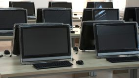 Student Computer Laboratory Stock Foto's