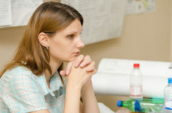 Student concentrating preparing to take the exam Royalty Free Stock Photo