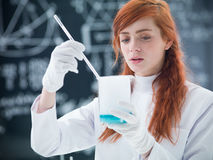 Student conducting experiment Royalty Free Stock Photos