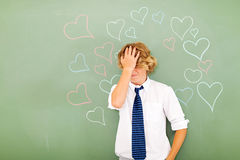 Student confused love Royalty Free Stock Photography