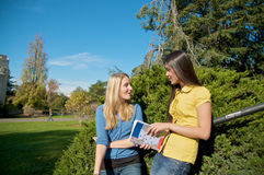 Student conversation Royalty Free Stock Image