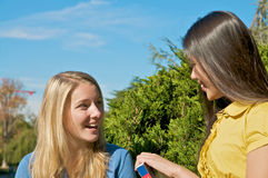 Student conversation Royalty Free Stock Images
