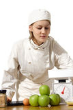 Student cooking in kitchen Stock Image