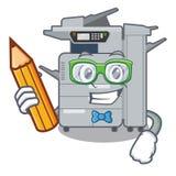 Student copier machine isolated in the cartoon. Vector illustration stock illustration