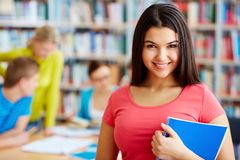 Student with copybook Royalty Free Stock Photos
