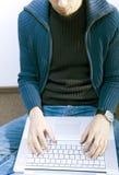 Student on corridor Stock Photo