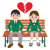 Student couple catastrophe Royalty Free Stock Images