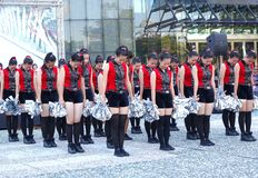 Student Dancers Peform for the Dragon Boat Festival Royalty Free Stock Images