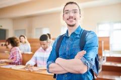 Student in de klasse royalty-vrije stock afbeeldingen