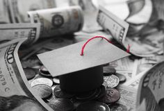Student Debt In Black & Hoog Wit - kwaliteit royalty-vrije stock fotografie