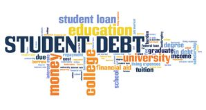 Student debt Royalty Free Stock Photography