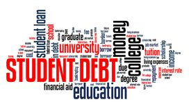 Student debt Royalty Free Stock Images