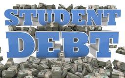 Student Debt - Universiteit en Hogeschool Stock Foto's