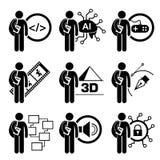 Student Degree in Informatietechnologie Stock Foto's
