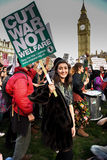 Student demonstration for Free Education – no cuts, no fees, n Royalty Free Stock Images