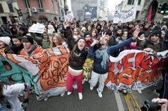 Student demonstration in Milan December 14, 2010 Stock Photo