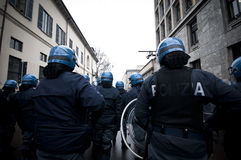 Student demonstration in Milan december 22, 2010 Stock Photography