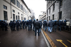 Student demonstration in Milan december 22, 2010 Stock Photos