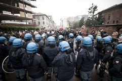 Student demonstration in Milan december 22, 2010 Royalty Free Stock Photography