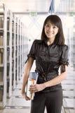 Student an der Bibliothek Lizenzfreies Stockfoto
