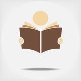 Student, der ein Buch liest Stockbild