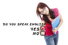 Student, der Englisch 2 lernt lizenzfreies stockbild