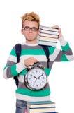Student, der seine Fristen lokalisiert verfehlt Stockfotos