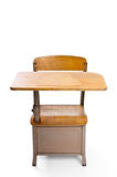Student desk. Vintage student desk isolated on a white background Royalty Free Stock Photography