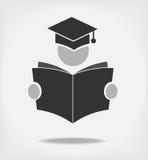 Student die een boek lezen vector illustratie