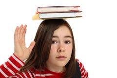 Student die op wit wordt geïsoleerda stock afbeelding