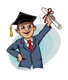 Student with diploma Stock Photos