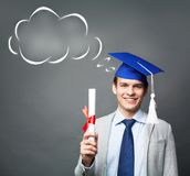 Student with diploma Royalty Free Stock Photos