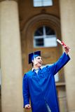 Student with diploma Royalty Free Stock Photography
