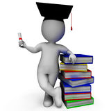 Student With Diploma Shows Graduation Stock Image