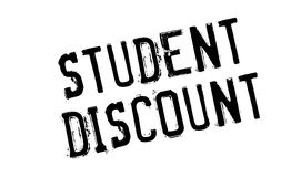Student Discount rubber stamp. Grunge design with dust scratches. Effects can be easily removed for a clean, crisp look. Color is easily changed Royalty Free Stock Photo