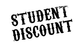 Student Discount rubber stamp. Grunge design with dust scratches. Effects can be easily removed for a clean, crisp look. Color is easily changed Royalty Free Stock Photos