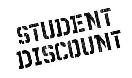 Student Discount rubber stamp. Grunge design with dust scratches. Effects can be easily removed for a clean, crisp look. Color is easily changed Stock Photography