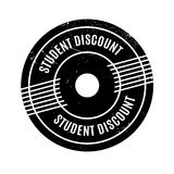 Student Discount rubber stamp. Grunge design with dust scratches. Effects can be easily removed for a clean, crisp look. Color is easily changed Stock Images